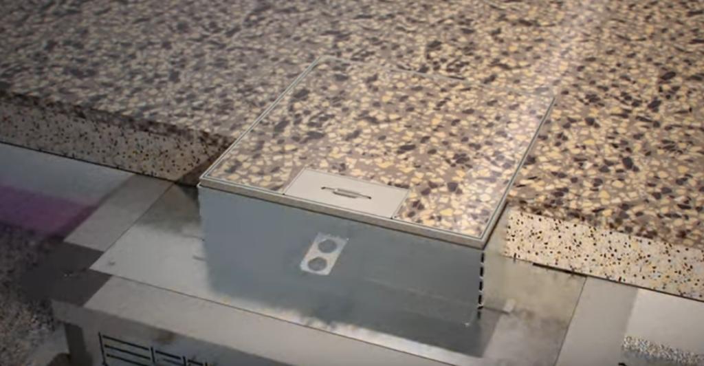 Пример установки системы прокладки кабеля в разрезе