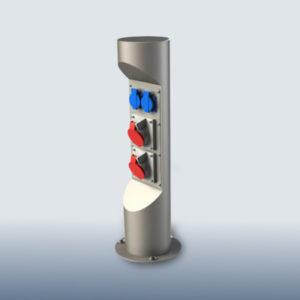Миниколонна на 4 модуля из алюминия