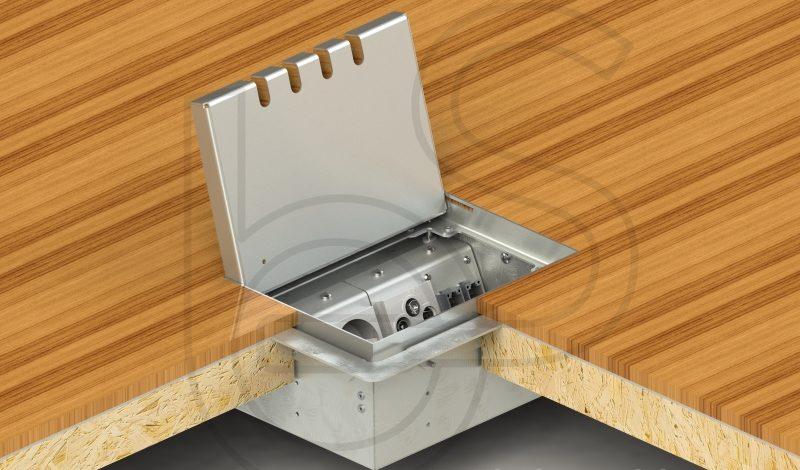 Встраиваемые розетки с откидной крышкой для подключения в закрытом стостоянии